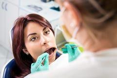 Inspección dental fotografía de archivo
