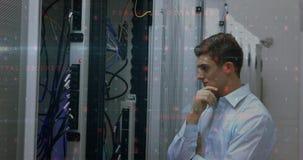 Inspección 4k del servidor de datos almacen de metraje de vídeo