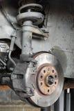 Freno de disco del coche Foto de archivo libre de regalías