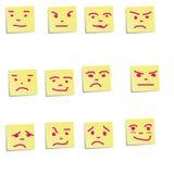 Inspecione as emoções nas etiquetas Imagem de Stock Royalty Free