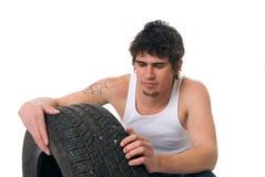 inspecition轮胎 库存照片