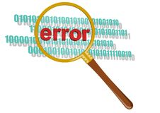 This is inspect error in magnifier. Royalty Free Stock Images