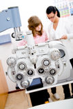 Inspect a patient in ophthalmology labor Royalty Free Stock Images