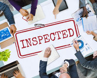Inspected Approval Regulations Selection Graphic Concept. People Inspected Approval Regulations Selection royalty free stock photos