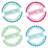 Inspected badge isolated on white background. Royalty Free Stock Images