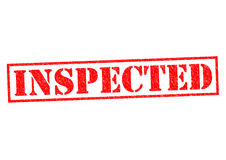 INSPECTED Stock Image