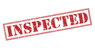 Inspected red stamp Stock Photography
