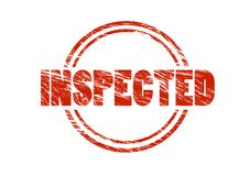 Inspected red rubber stamp Stock Image