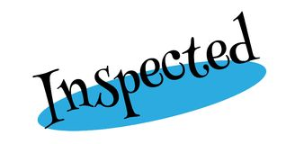 Inspected rubber stamp Stock Photo