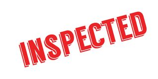 Inspected rubber stamp Royalty Free Stock Photo
