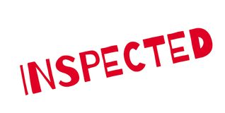 Inspected rubber stamp Stock Image