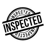 Inspected rubber stamp Royalty Free Stock Photos