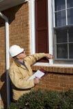 Inspecteur à la maison Photo libre de droits