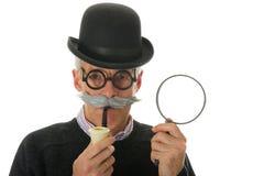 Inspecteur avec la loupe Photo libre de droits