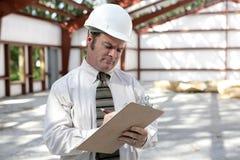 Inspecteur de construction - liste de contrôle d'inscription Image libre de droits