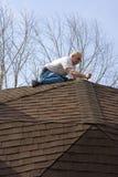 Inspecteur de toit Photographie stock libre de droits