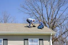 Inspecteur de toit Photos stock