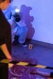 Inspectie van de misdaadscène Stock Fotografie