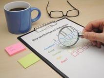Inspecting key performance indicators Royalty Free Stock Photography