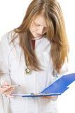 Inspecting medical chart Stock Photos