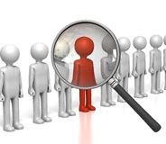 Inspecting Row Of Figures Stock Photography