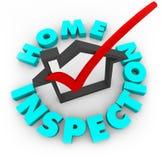 Inspection à la maison - cadre de contrôle Image libre de droits