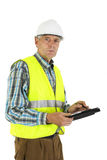 Inspection. At the workplace by an inspector Royalty Free Stock Images