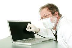 Inspection aînée de docteur Image libre de droits