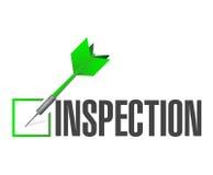 Inspection approval check dart illustration design Stock Image