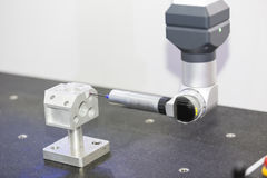 Inspection automotive part dimension. By CMM measuring machine royalty free stock images