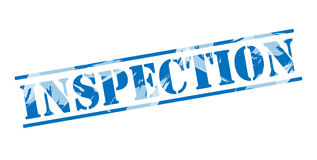 Inspection blue stamp Stock Photos
