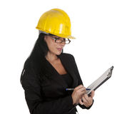Inspection businesswoman Royalty Free Stock Images