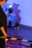 Inspection of the crime scene Stock Photography