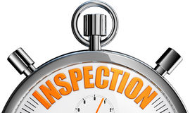 Inspection. 3D rendering of a inspection concept stock images