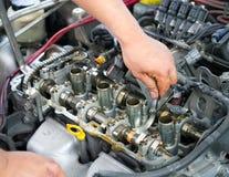 Inspection de moteur de voiture Photographie stock libre de droits