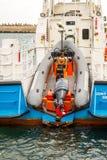 Inspection de ponton Photographie stock