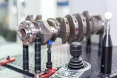 Inspection dimension automotive parts by CMM. In the industrial factory stock photography