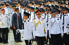 Inspection of guard-of-honor contingents Stock Images