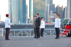 Inspection of Guard of Honour Royalty Free Stock Photos