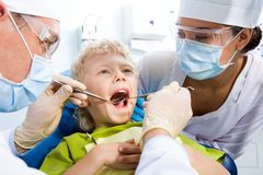 Inspection of oral cavity Stock Photos