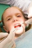 Inspection of oral cavity Royalty Free Stock Photography