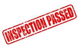 INSPECTION PASSED RED STAMP TEXT Royalty Free Stock Photo