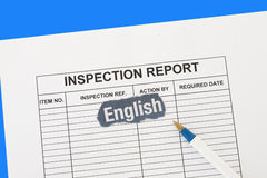 Inspection report Royalty Free Stock Image