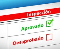 Inspection Results passed and fail selection Stock Images