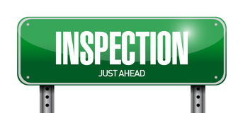 Inspection road sign illustration design Royalty Free Stock Photography