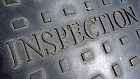 Inspection Sign Stock Images