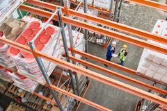 Inspection at Warehouse stock photos