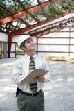 Inspector de la construcción - Copyspace imagen de archivo libre de regalías