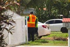 Inspector de Zika, Miami Beach del norte, la Florida Fotografía de archivo