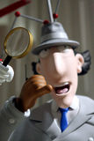 Inspector gadget. At the museum of the human in Paris France.  is a French Canadian American animated television series that revolves around the adventures of a stock photo